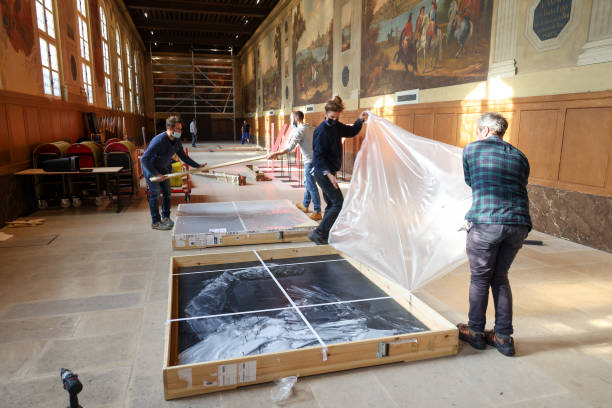 """FRA: Installation Of The """"Napoleon? Encore!"""" Exhibition At Musee Des Armees In Paris"""