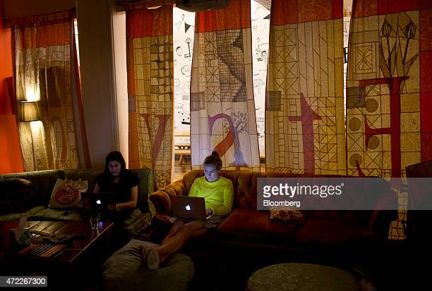 Employees work at Etsy Inc headquarters in the Brooklyn borough of New York US on Monday May 4 2015 Etsy Inc a marketplace for handmade and vintage...
