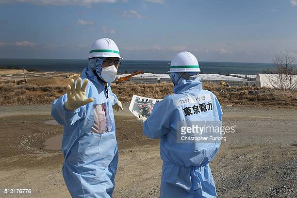 TEPCO employees work at Fukushima Daiichi nuclear power plant Five years on the decontamination and decommissioning process at the Tokyo Electric...