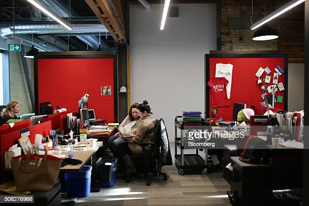 Employees work at Google Canada's engineering headquarters in Waterloo Ontario Canada on Friday Jan 22 2016 The 185000squarefoot facility currently...