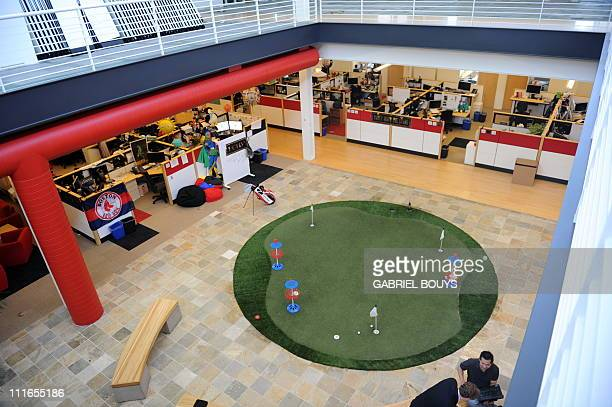Employees work at Youtube headquaters in San Bruno California on May 2010 AFP PHOTO / GABRIEL BOUYS
