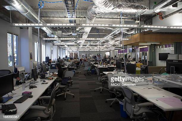 Employees work in the open spaces on April 23 2013 in Menlo ParkCA United States
