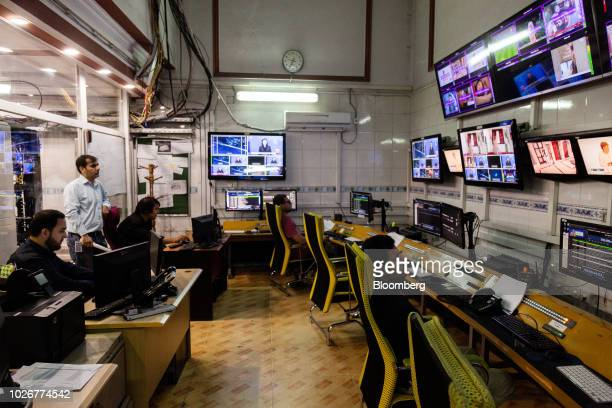 Employees work in the operations room of Alef Technology office in Kabul Afghanistan on Wednesday July 11 2018 Dubaibased Alef which has prospered...