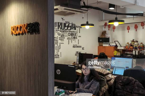Employees work inside Klook Travel Technology Ltd's office in Hong Kong China on Wednesday Feb 7 2018 For the past seven years the travelandtourism...