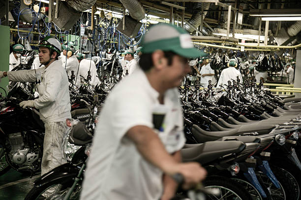 Inside A Honda Motorcycle Factory