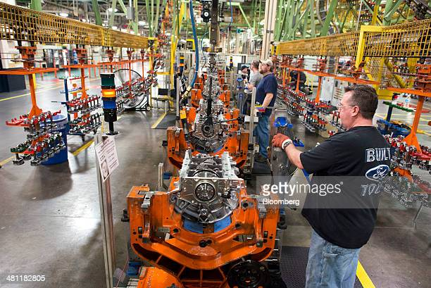 Ecoboost engine stock photos and pictures getty images for Ford motor company lima ohio
