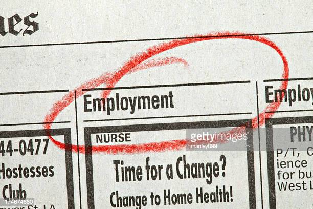 employment circled