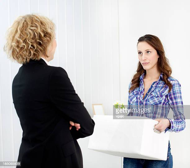 Emploi: Femme d'affaires étant feu.