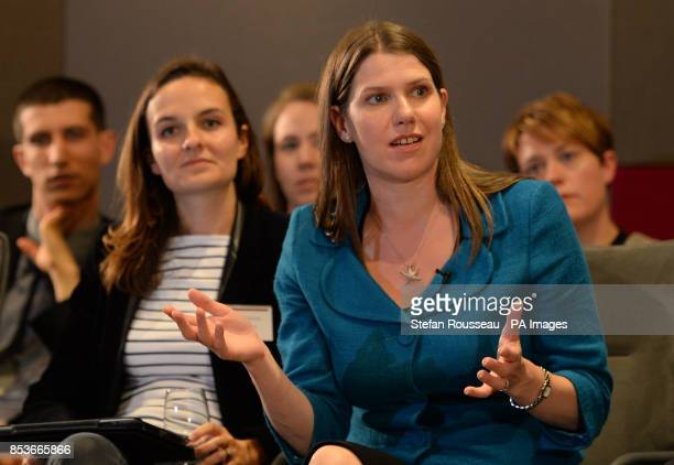 Employment Minister Jo Swinson speaks to mothers fathers and grandparents with Mumsnet and Gransnet at PwC in London where she discussed employees...