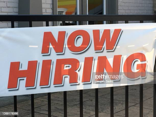 employment sign trying to hire new workers - help wanted sign stock pictures, royalty-free photos & images