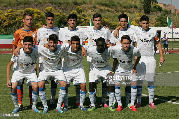 Empoli FC players line up before during the Campionato Allievi Nazionali final match between Empoli FC and FC Parma at Stadio B Bonelli on June 19...