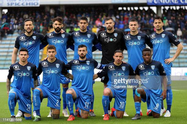 Empoli FC poses during the Serie A match between Empoli and ACF Fiorentina at Stadio Carlo Castellani on May 5 2019 in Empoli Italy