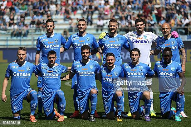 Empoli FC poses prior to the Serie A match between Empoli FC and Bologna FC at Stadio Carlo Castellani on May 1 2016 in Empoli Italy