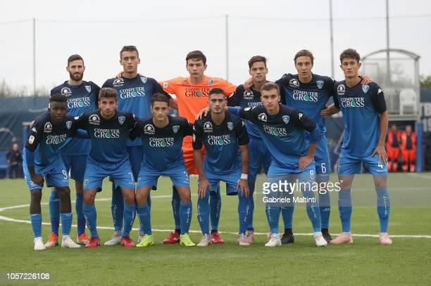 Empoli FC U19 poses during the Serie A Primavera match between Empoli FC U19 and ACF Fiorentina U19 on November 4 2018 in Empoli Italy