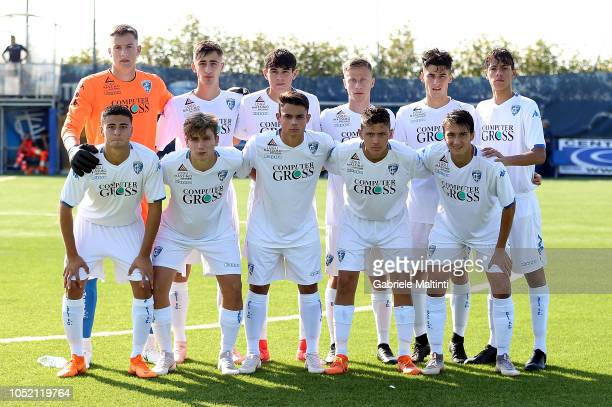 Empoli U17 poses during the match between Empoli FC U17 and ACF Fiorentina U17 on October 14 2018 in Empoli Italy