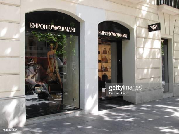 Emporio Armani shop in Serrano street in the Salamanca district of Madrid Spain