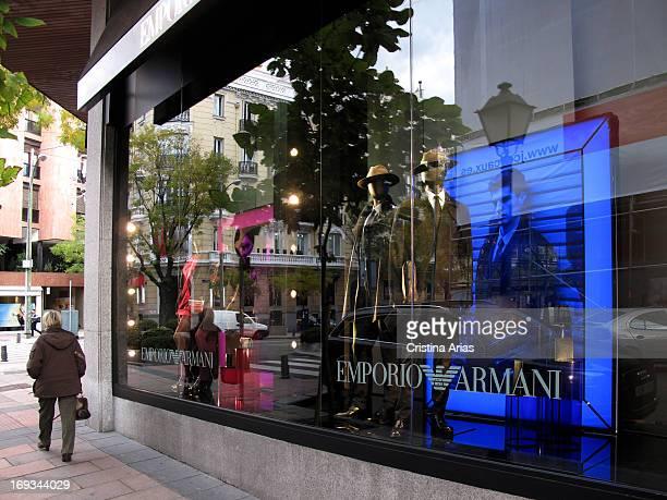 Emporio Armani Store In Madrid, Spain, November 2012.