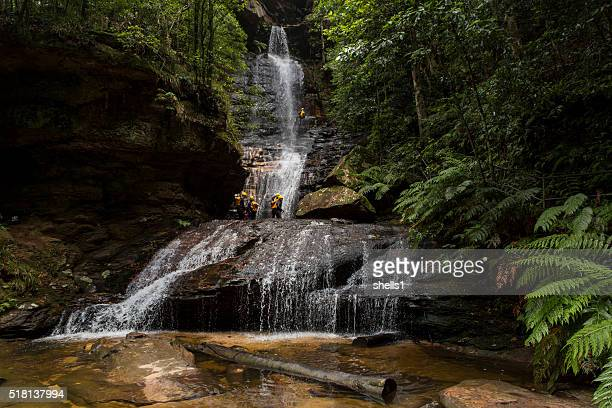 empress canyon - blue mountains national park stock pictures, royalty-free photos & images