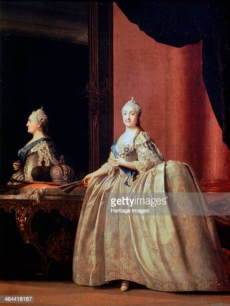 'Empress Catherine II before the Mirror' 1779 Catherine the Great came to the throne in 1762 A German princess she was chosen at the age of 14 to be...