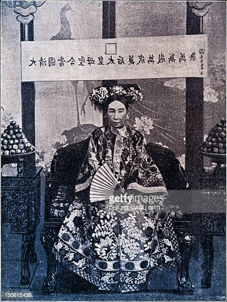 Empress Dowager Cixi or Empress Tz'uHsi concubine of Emperor Xianfeng and Empress of the Qing Dynasty China 19th 20th century