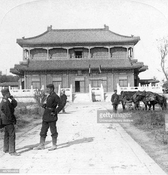 Empress Dowager's favourite palace by the lake Imperial city Beijing China During the Boxer Uprising it became Count Waldersee's headquarters 1901
