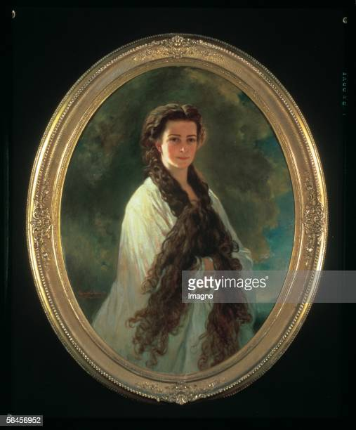 Empress Elisabeth in morning light Copy by E Riegele according to a painting by Franz Xaver Winterhalter [Kaiserin Elisabeth im Morgenlicht Kopie von...