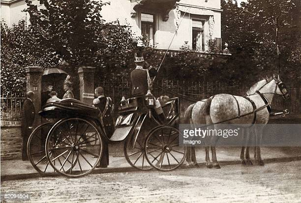 Empress Elisabeth is receiving the german royal couple Bad Nauheim August 21st 1898 [Kaiserin Elisabeth von sterreich empfngt das deutsche Kaiserpaar...