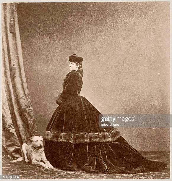 Empress Elisabeth of Austria , Empress of Austria and Queen of Hungary as wife of Franz Joseph I. Ca. 1870.