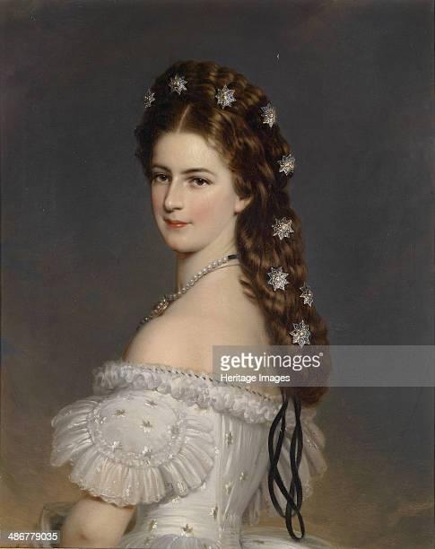 Empress Elisabeth of Austria with Diamond stars in her hair ca 1860 Artist Winterhalter Franz Xavier