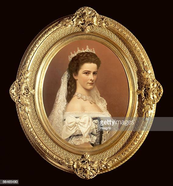 Empress Elisabeth The official portrait oft he coronition to Queen of Hungaria1867 Painting by Georg Martin Raab after a Photography by Emil...
