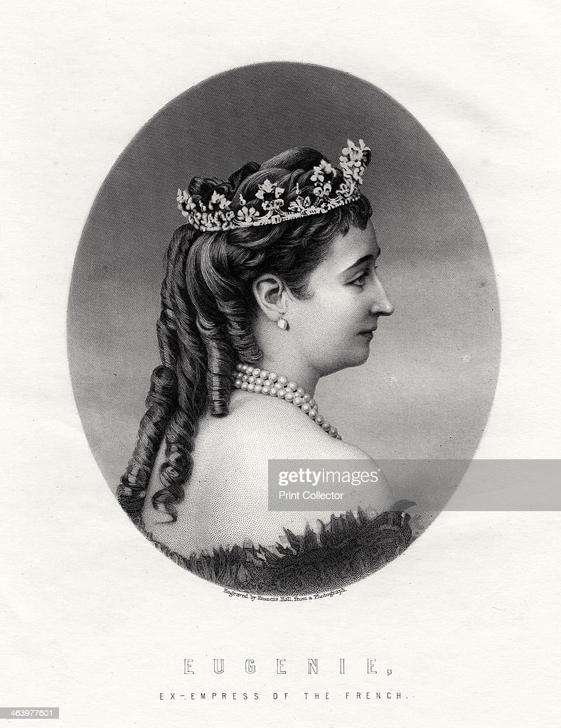 Empress Eugenie, (1826-1920), Empress Consort of France (1853-1870), 19th century. Artist: Francis Holl : News Photo