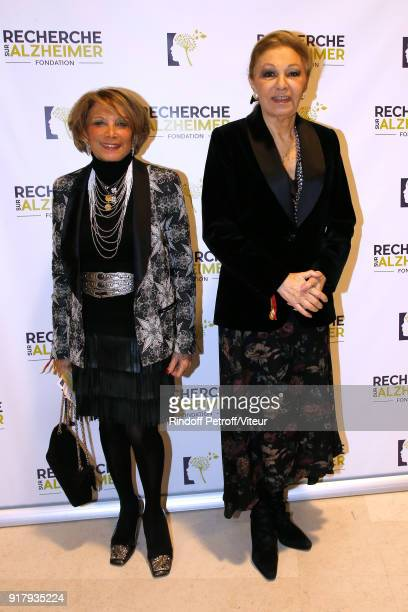 H Empress Farah Pahlavi and guest attend the Charity Gala against Alzheimer's disease at Salle Pleyel on February 12 2018 in Paris France