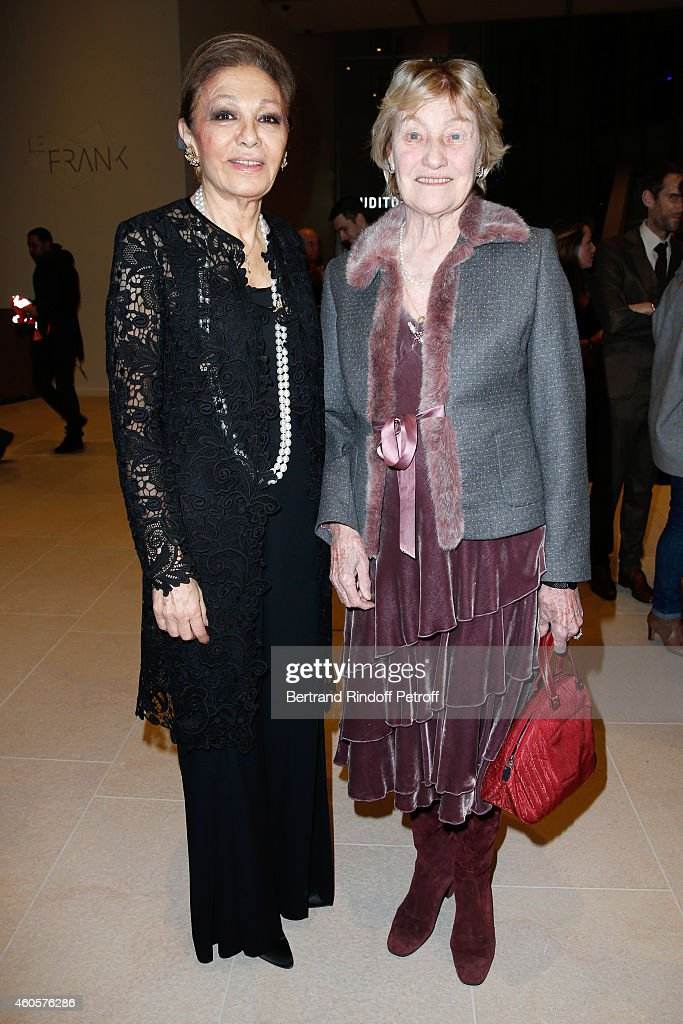 HIH Empress Farah Pahlavi and Marisa Bruni Tedeschi attend the 'Fondation Claude Pompidou' : Charity Party at Fondation Louis Vuitton on December 16, 2014 in Paris, France.