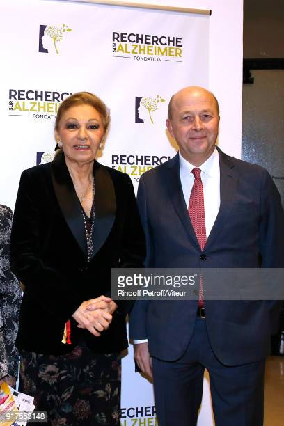 H Empress Farah Pahlavi and President of the Association for Alzheimer Research Doctor Olivier de Ladoucette attend the Charity Gala against...
