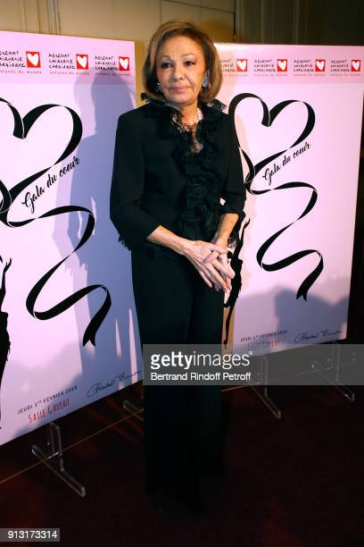 H Empress Farah Pahlavi attends the 'Heart Gala' Evening to benefit the 'Mecenat Chirurgie Cardiaque' at Salle Gaveau on February 1 2018 in Paris...