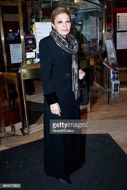 Empress Farah Pahlavi attends the 'Talking to the Trees Retour a La Vie' movie screening at Cinema l'Arlequin on March 2 2015 in Paris France
