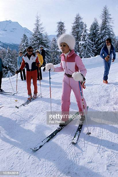Empress Farah Pahlavi of Iran on a skiing holiday 1975 Empress Farah Pahlavi is the wife of the Shah of Iran