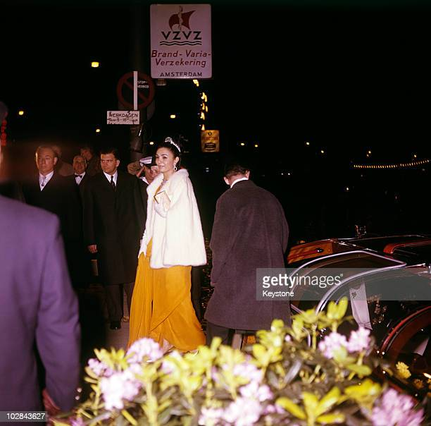 Empress Farah Pahlavi of Iran pictured during Royal Silver Wedding celebrations in Amsterdam Holland 1962 Empress Farah Pahlavi is the wife of the...