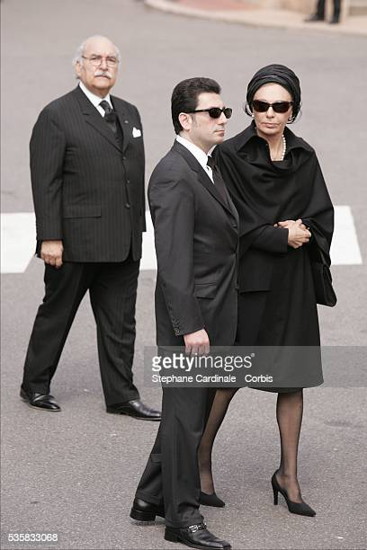 HIM Empress Farah Pahlavi of Iran with her son Ali Reza