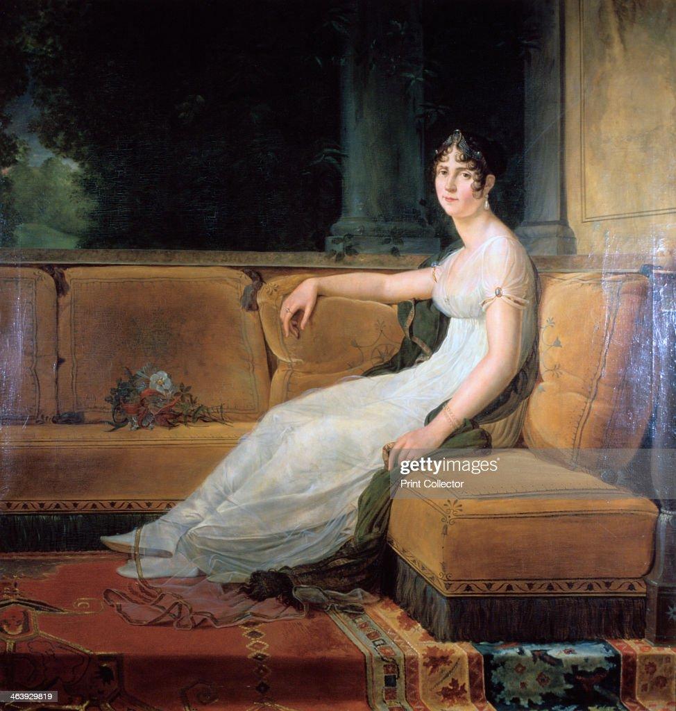 'Empress Josephine at Malmaison', c1801. Artist: Francois Pascal Simon Gerard : News Photo