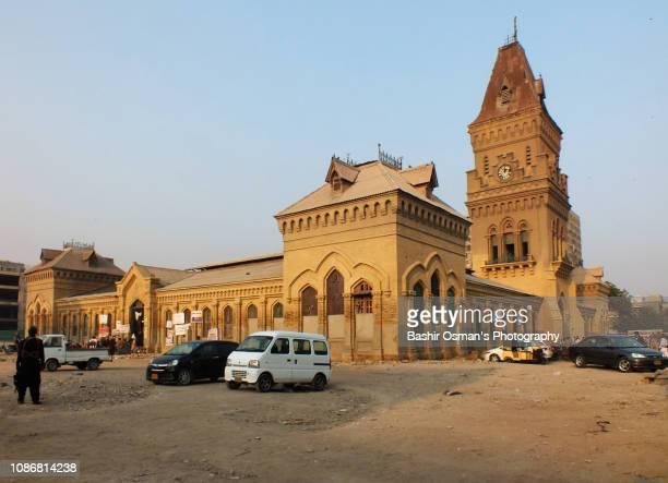 empress market of karachi - clock tower stock pictures, royalty-free photos & images