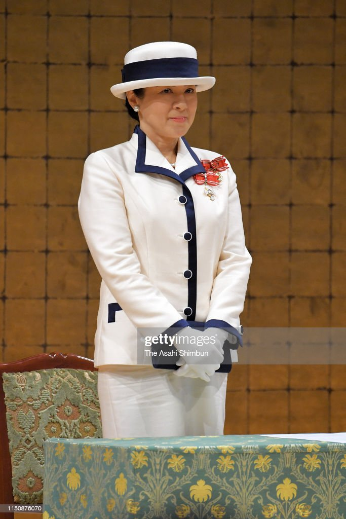JPN: Empress Masako Attends Red Cross Society Annual Meeting