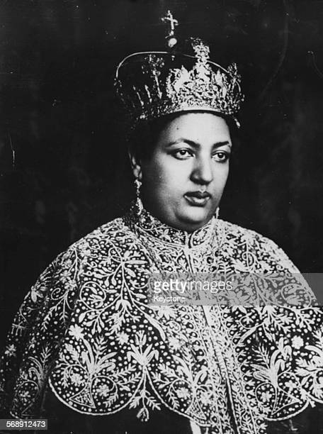Empress Menen Asfaw Queen Consort of the Ethiopian Empire wearing robes and a crown in Addis Abada circa 1930