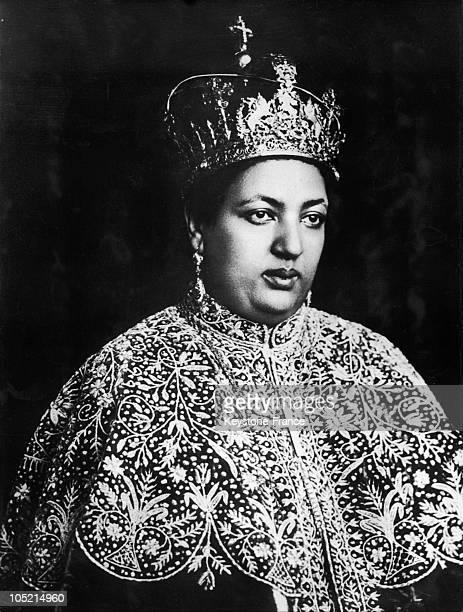 Empress Menen Wife Of Haile Selassie In Ceremonial Wear 1928