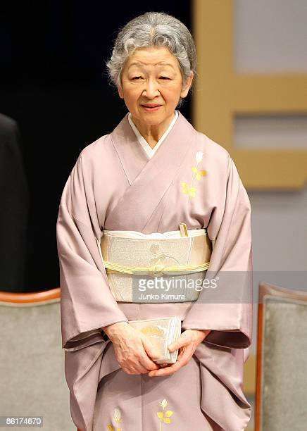 Empress Michiko attends the 2009 Japan Prize Award Ceremony at the National Theater on April 23 2009 in Tokyo Japan The Japan Prize founded was in...