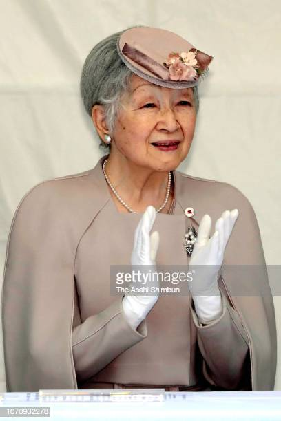 Empress Michiko attends the ceremony marking the 200th anniversary of the birth of doctor Ignaz Semmelweis on November 14, 2018 in Tokyo, Japan.