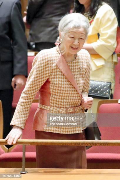 Empress Michiko attends the El Sistema Festival Concert at Tokyo Metropolitan Theatre on December 01 2018 in Tokyo Japan