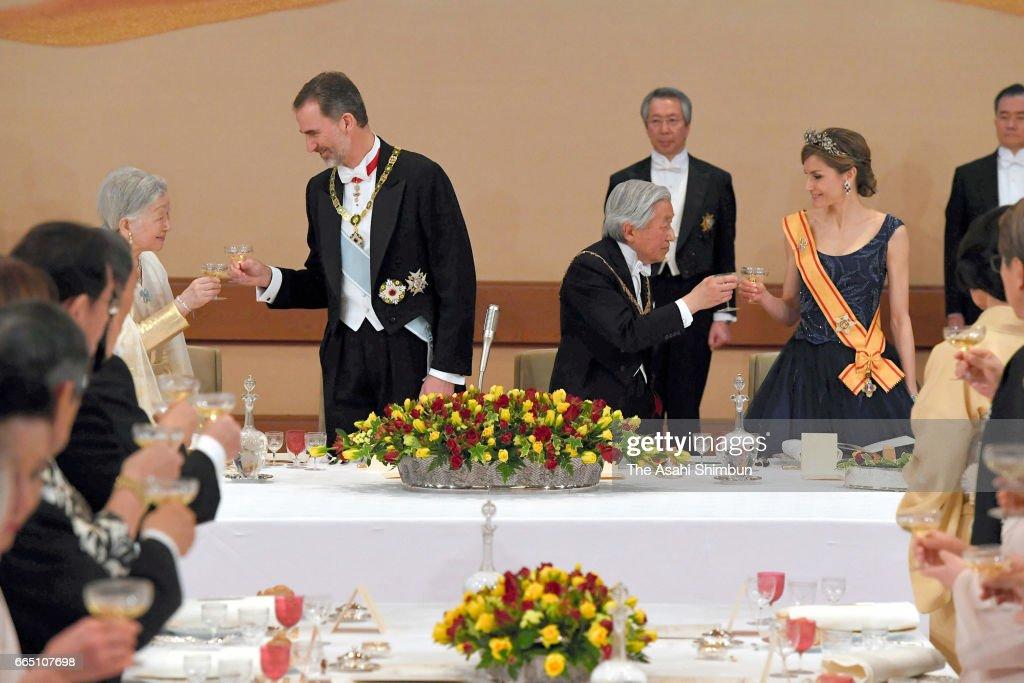 King Felipe VI and Queen Letizia Visit Japan - Day 2 : News Photo