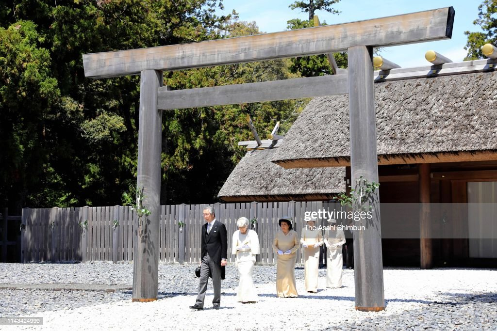 JPN: Emperor And Empress Visit Ise Shrine - Day 2