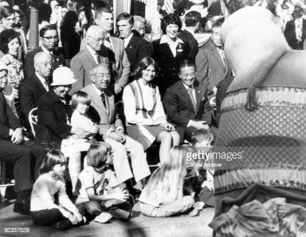 Empress Nagako and Empror Hirohito visit Disneyland during their visit to United States on October 9, 1975 in Anaheim, Carifornia.